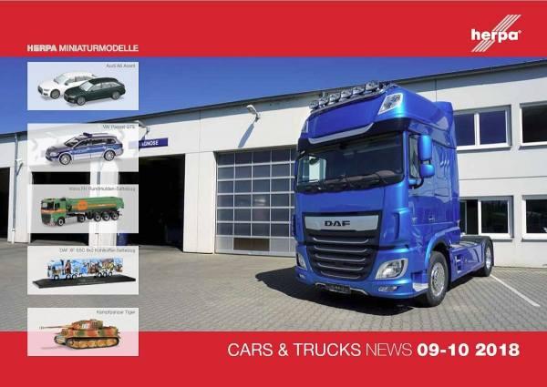 208208 - Herpa - Prospekt Neuheiten Cars & Trucks September/Oktober 2018