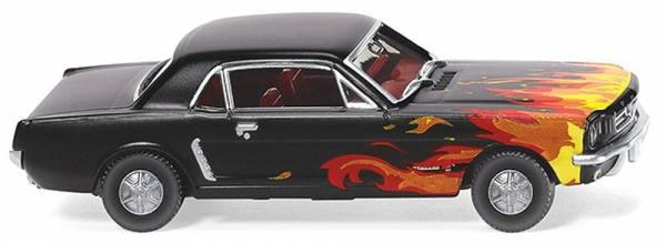 020503 - Wiking - Ford Mustang Coupé - mattschwarz mit Flammendekor
