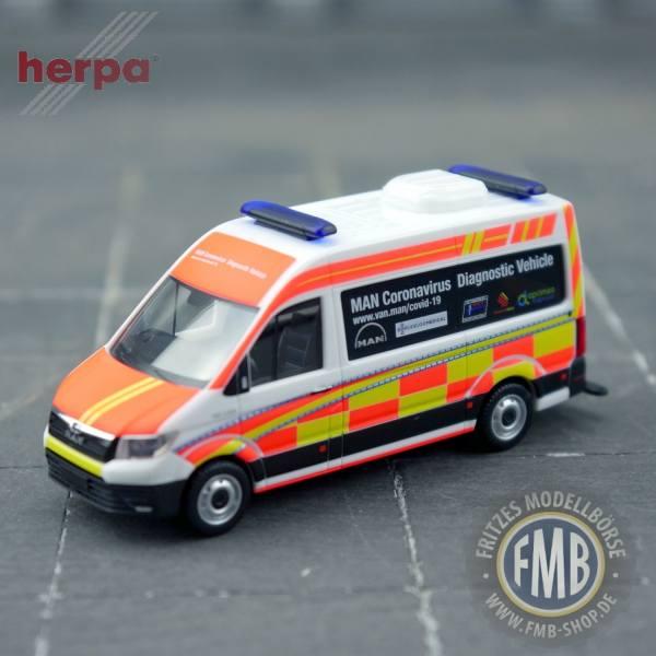 "944427 - Herpa - MAN TGE 3.160 Bus ""Coronavirus Testmobil"""