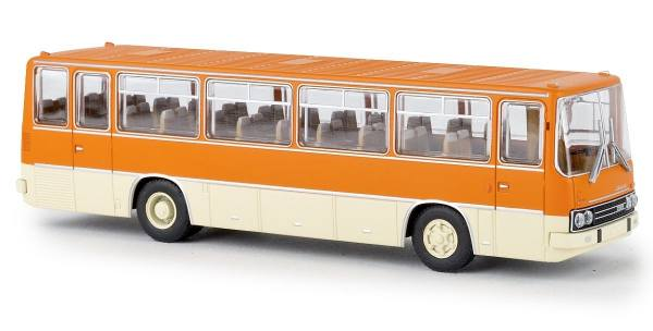 59652 - Brekina - Ikarus 255.71 Reisebus, orange/hellelfenbein