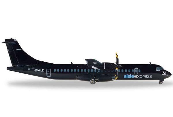 558396 - Herpa - alsieexpress ATR-72-500 - OY-CLZ - mattschwarz