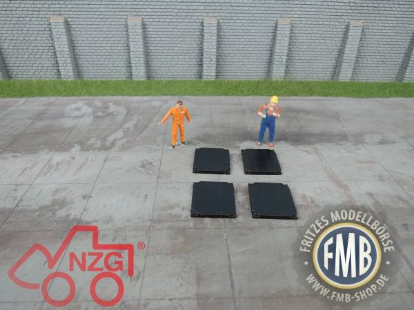 7871 - NZG - Mobilkran Abstützplatten, 250t