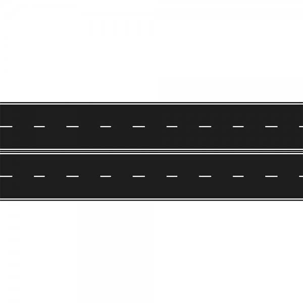 70701 - Rietze - Teerbelag, 2-spurige Straße gerade, 80mm breit - 500mm lang - 2 Stück