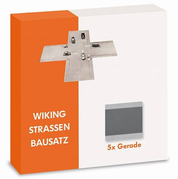119902 - Wiking - Strassen Bausatz - 5x Gerade