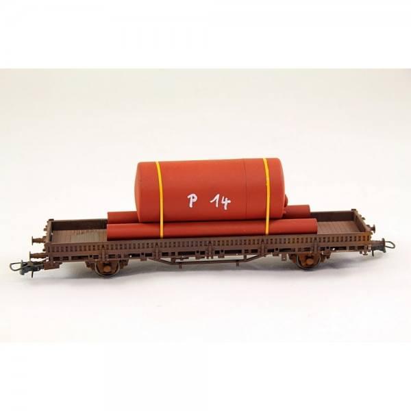 H01327 - Bauer - Chemietank mit Röhren, rot