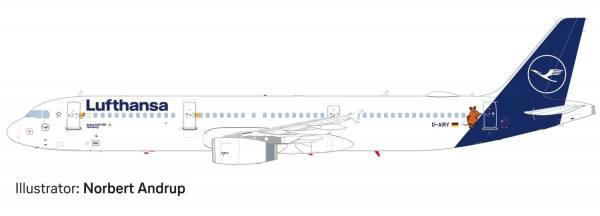 """612432 - Herpa - Lufthansa  Airbus A321 """"Die Maus"""" """"Flensburg"""""""