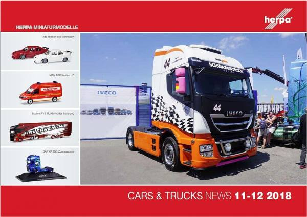 208222 - Herpa - Prospekt Neuheiten Cars & Trucks November/Dezember 2018