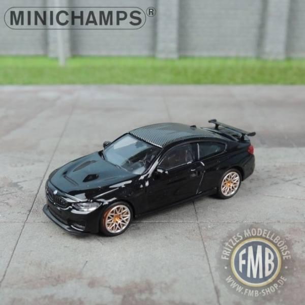 027102 Minichamps Bmw M4 Gts 2016 Black Metallic With Orange