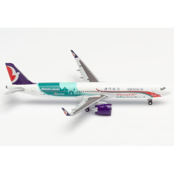 """534444 - Herpa - Air Macao Airbus A321neo """"Macao welcomes you"""""""
