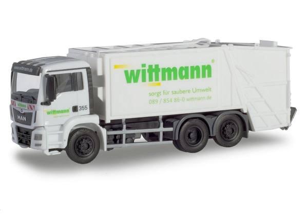 """936644 - Herpa - MAN TGS M Euro6 Pressmüllfahrzeug """"Wittmann"""""""