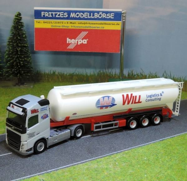 921695 - Herpa - Volvo FH GL Siloauflieger -Will Logistik & Consulting-