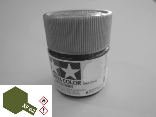 81362 - Tamiya - Acrylfarbe 23ml, braun oliv (olive drab ) matt XF-62