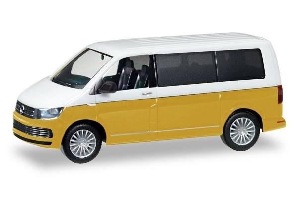 038730 - Herpa - VW T6 Multivan Bicolor, candyweiß/kurkumagelb metallic