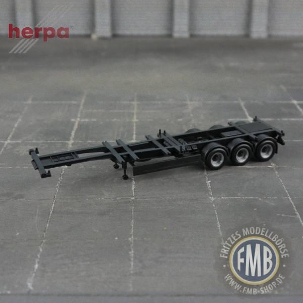 939768 - Herpa - Universal-Containerauflieger, schwarz