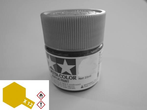 81012 - Tamiya - Acrylfarbe 23ml, Blattgold glänzend X-12