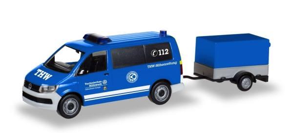 """093668 - Herpa - VW T6 Bus mit Anhänger """"THW Korbach / Höhenrettung"""""""