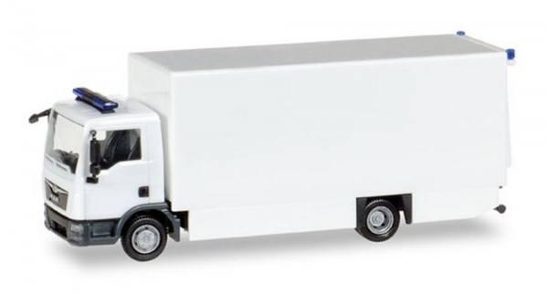 013123 - Herpa - MiniKit MAN TGL Rettungswagen Koffer-LKW mit Ladebordwand, weiß