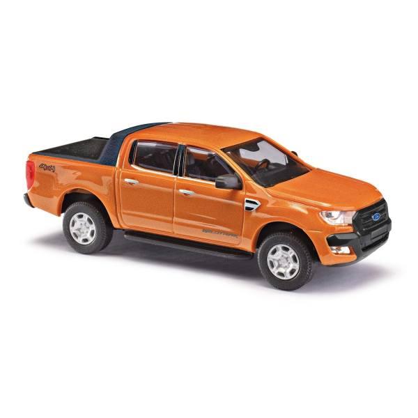 """52804 - Busch - Ford Ranger Doppelkabine `16 Pick-Up """"Wildtrak"""", orange metallic"""