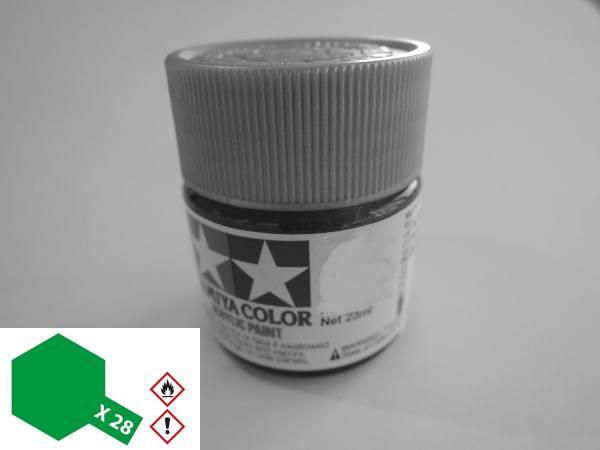81028 - Tamiya - Acrylfarbe 23ml, parkgrün glänzend X-28