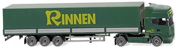 """051804 - Wiking - Scania R420 Topline Pritsche/Planen-Sattelzug """"Rinnen"""""""