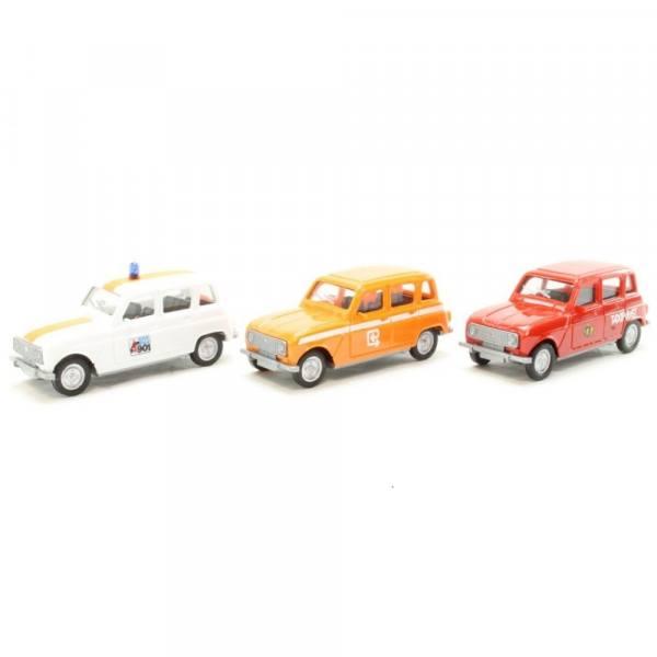 "942287 - Herpa - Renault R4 Set ""Taxipost / RTT / Politie"" BE"