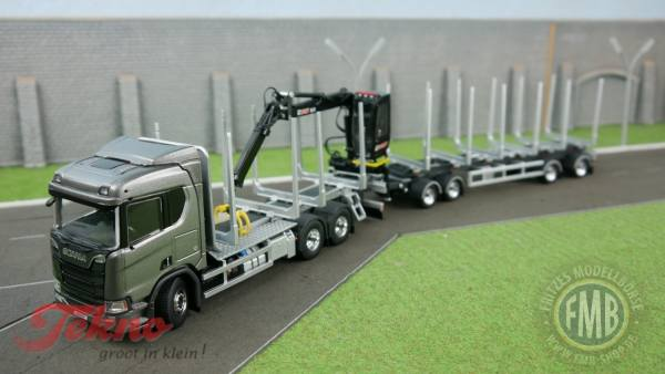 "2657317 - Tekno - Scania CR650 V8 6x4 Kurzholztransport / Schwedenkombi  ""Scania"""