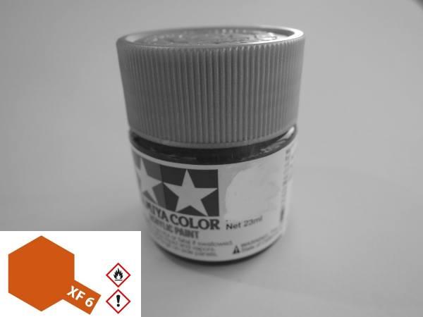81306 - Tamiya - Acrylfarbe 23ml, Kupfer XF-6