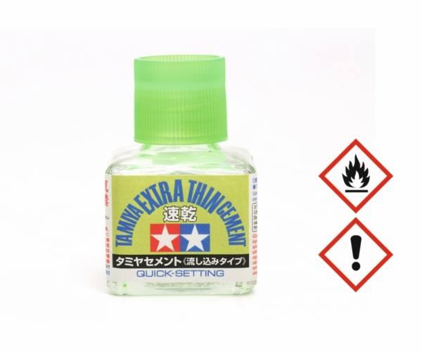 87182 - Tamiya - Plastikkleber schnell & extra dünn 40 ml