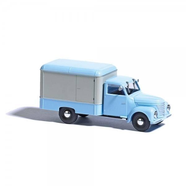 52001 - Busch - Framo V901/2 Kofferwagen, blau/weiß