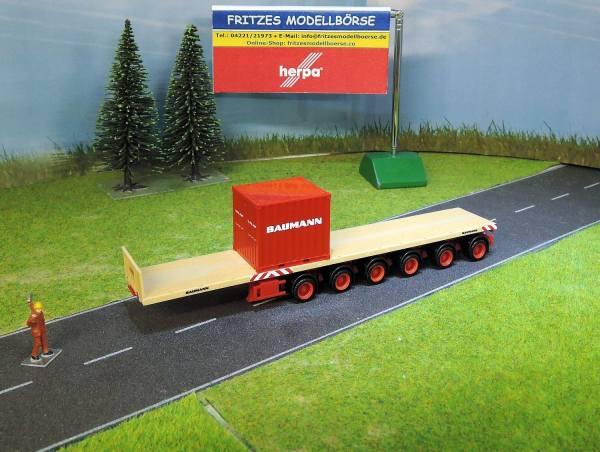 37799 - Herpa - 6 achs Nooteboom Ballastauflieger mit 10ft SPMT-Container - Baumann -