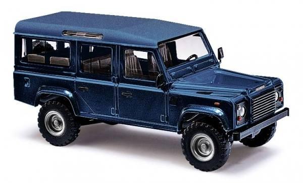50352 - Busch - Land Rover Defender, metallic blau, Bj. 1983