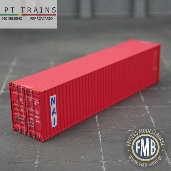 """840005 - PT-Trains - 40ft. Highcube Container """"PSL Navegacao - NAIU8001393"""""""