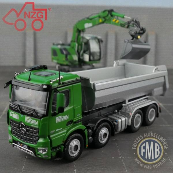NZG - Modellset - Hilti LGbau - Mercedes-Benz & Liebherr