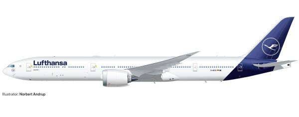 533904 - Herpa - Lufthansa Boeing 777-9 - new colors