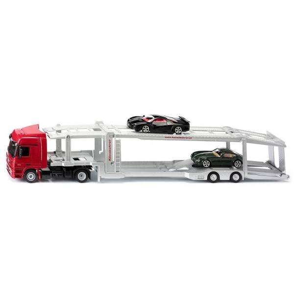 3934 - Siku - Mercedes-Benz Autotransporter mit 2 PKW Modellen