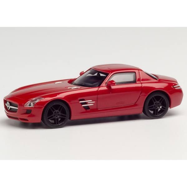 430784 - Herpa - Mercedes-Benz SLS AMG, Le Mans rot metallic mit schwarzen Felgen