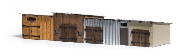 1454 - Busch - Reihenschuppen 4 Stück - Bausatz