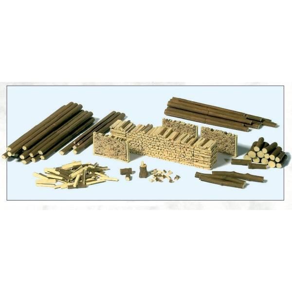 17609 - Preiser - Stämme, Holzscheite und Holzstapel