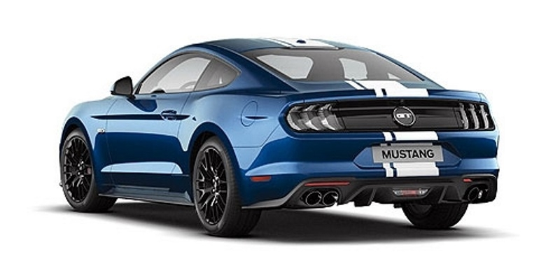 087021 minichamps ford mustang 2018 blau metallic. Black Bedroom Furniture Sets. Home Design Ideas