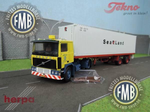 """071437 - Herpa - Volvo F10 mit 2achs Container-Sattelzug """"Auf Achse"""""""