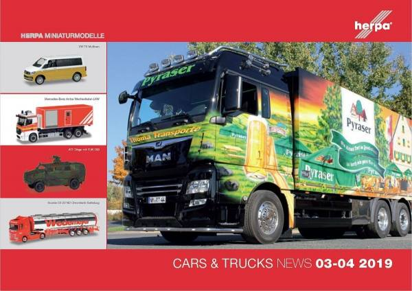 208611 - Herpa - Prospekt Neuheiten Cars & Trucks März/April 2019