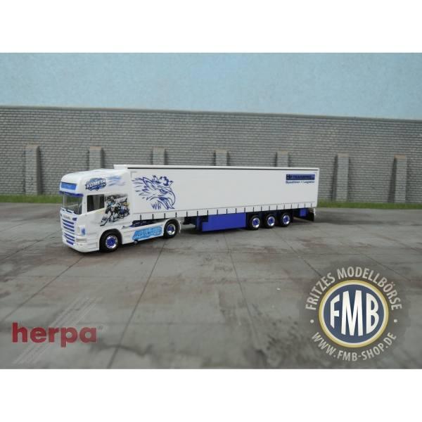 914574 - Herpa - Scania R´09 TL Gardinenplanen-Sattelzug -BRNO-