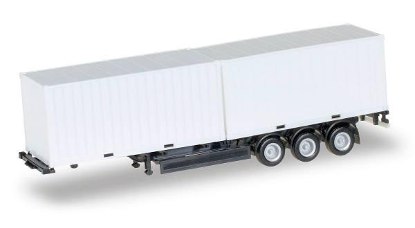 076494-002 - Herpa - Krone Container-Auflieger, schwarz mit 2x 20ft Container Weiß