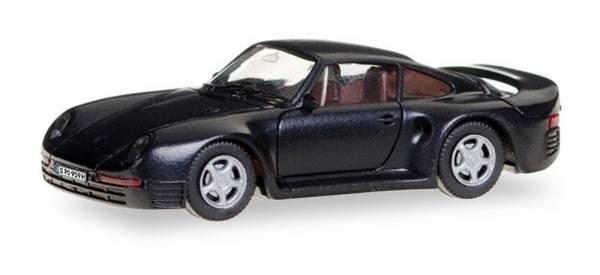 028684 - Herpa - Porsche 959, schwarz mit Kennzeichen (H-Edition)