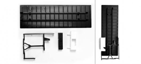 083515 - Herpa - TS Kofferbodenplatte (7,45m) mit Unterflurkühlaggregat und U-Schutz - 2 Stück -