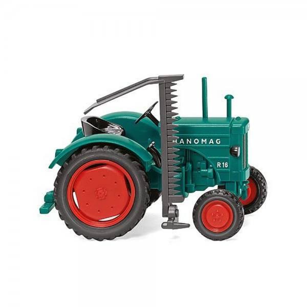 088506 - Wiking - Hanomag R 16 Traktor mit Mähbalken, opalgrün
