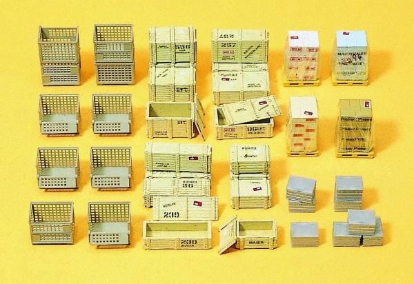 17110 - Preiser - Gitterboxen und Kisten -Bausatz aus Kunststoff--
